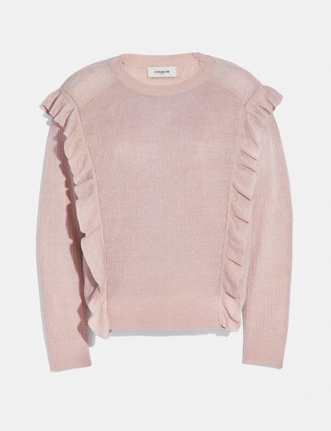 Coach Ruffle Sweater Pink Women Ready-to-Wear Tops