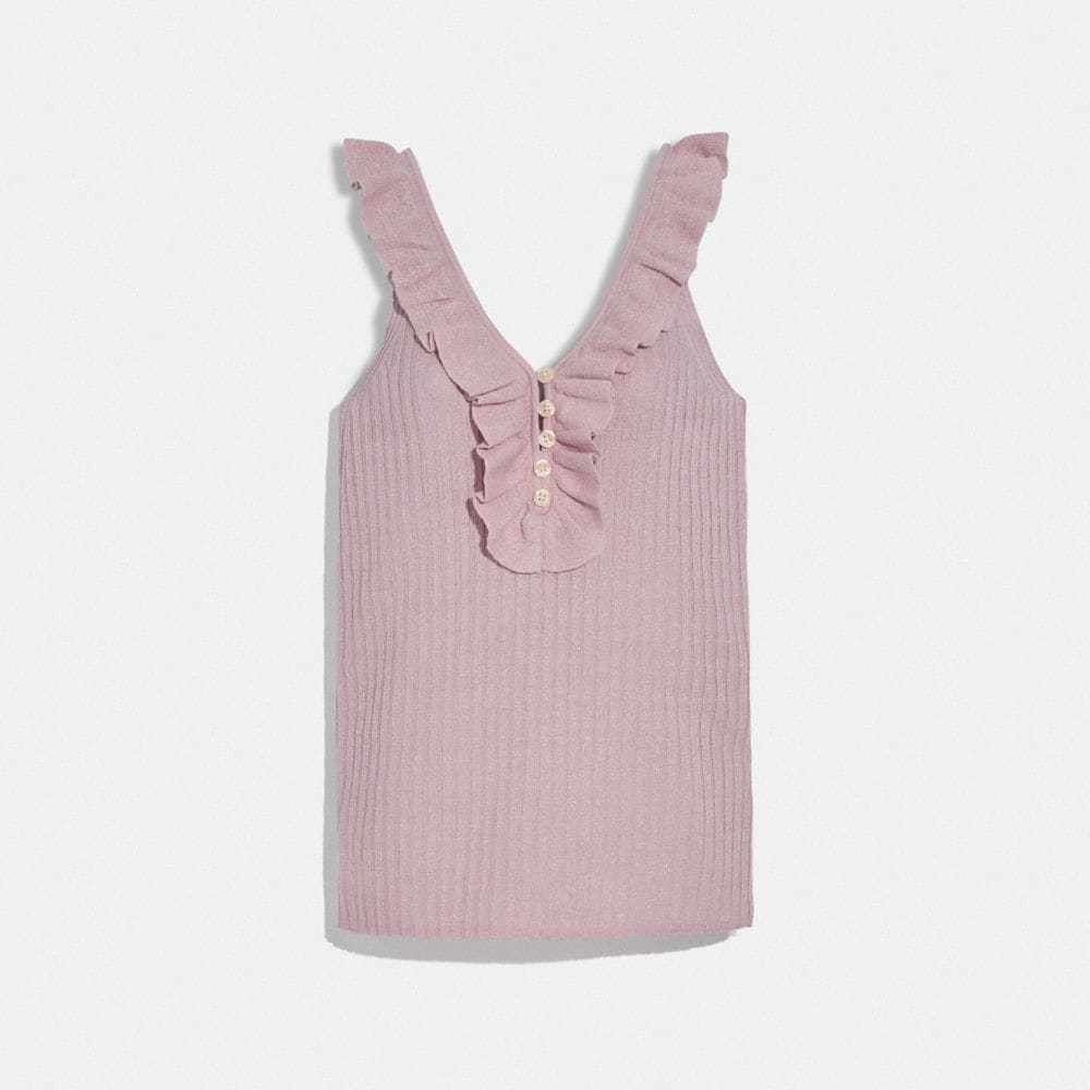 Coach Ruffle Tank Sweater