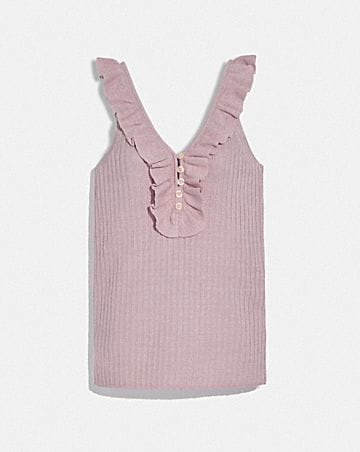 RUFFLE TANK SWEATER