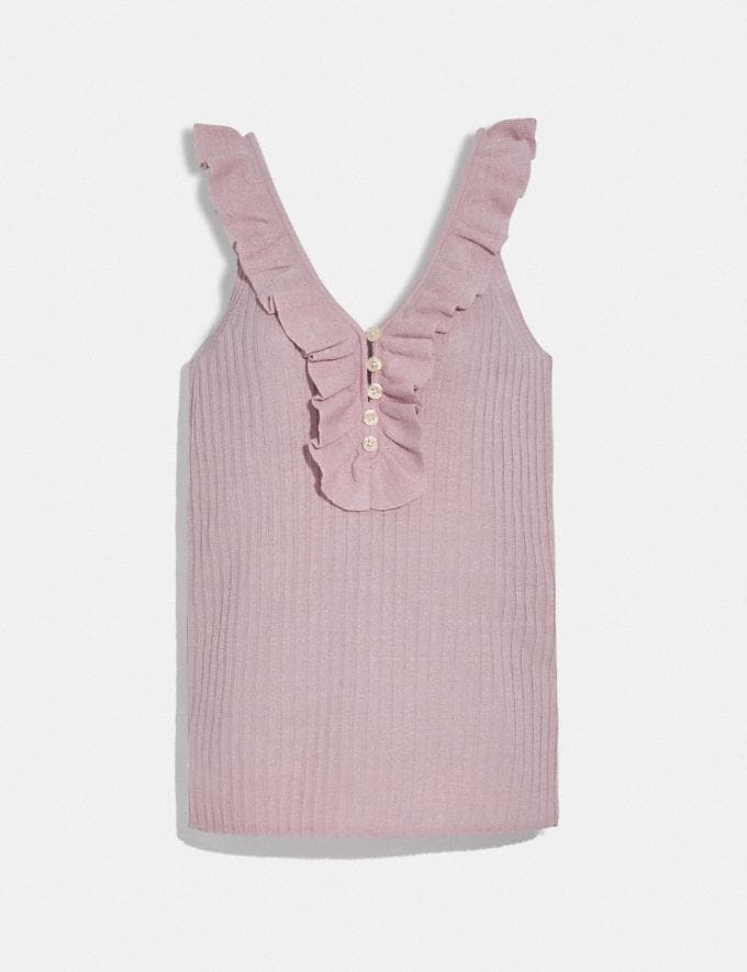 Coach Ruffle Tank Sweater Pink SALE Women's Sale Ready-to-Wear