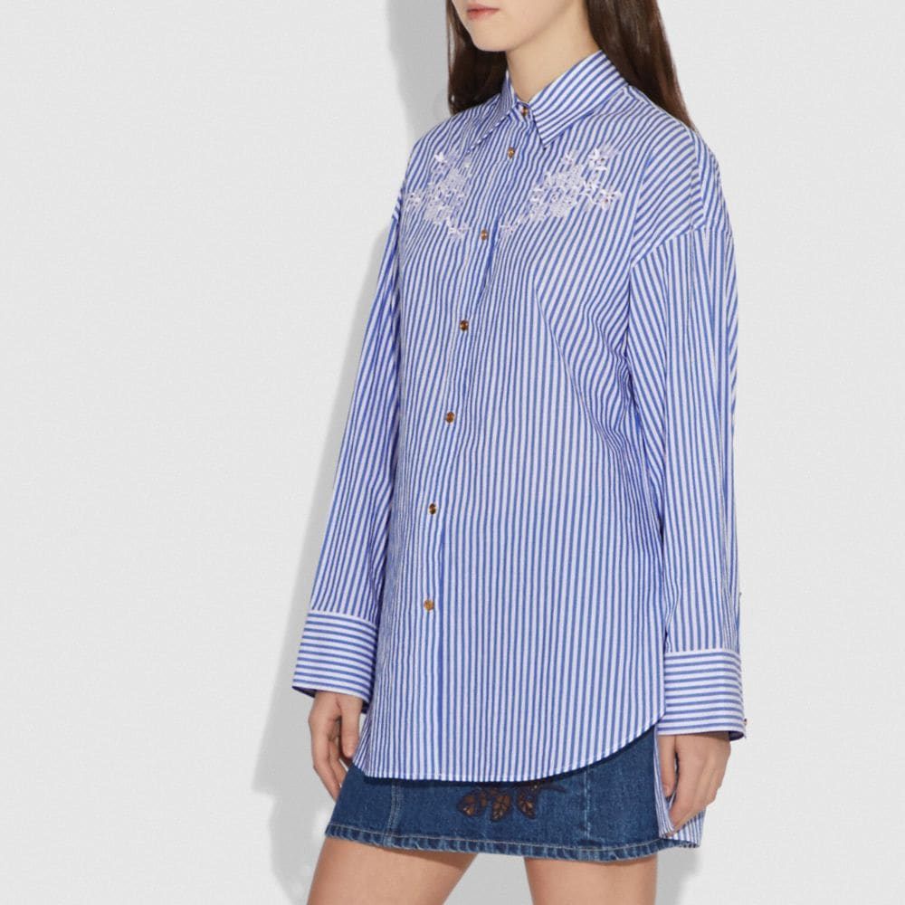Coach Embroidered Long Shirt Alternate View 1