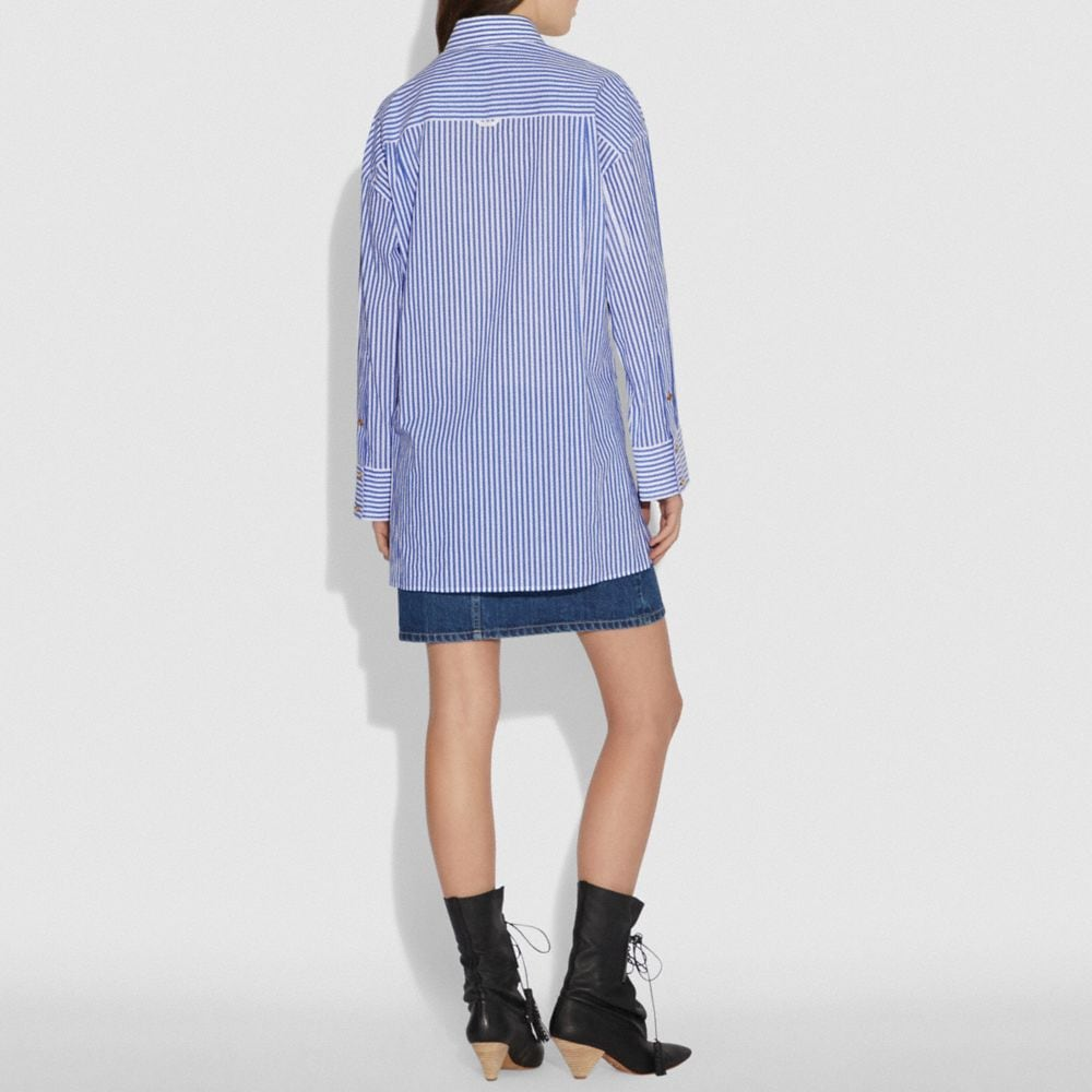 Coach Embroidered Long Shirt Alternate View 2