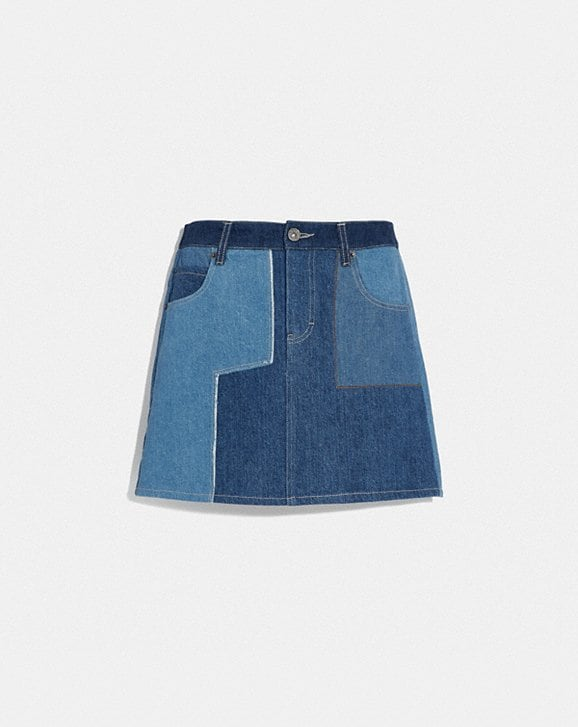 Coach DENIM PATCHWORK SKIRT