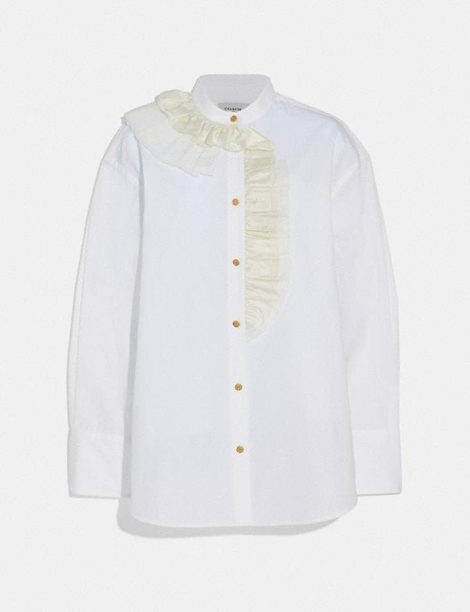 Coach Ruffle Shirt White