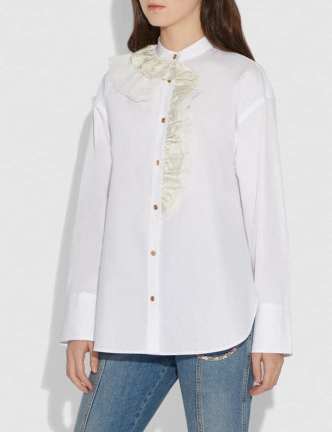 Coach Ruffle Shirt White  Alternate View 1