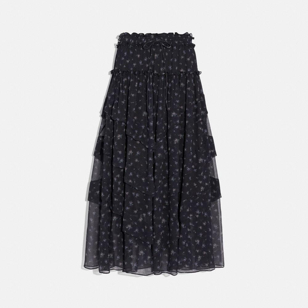 prairie print ruffle tiered skirt