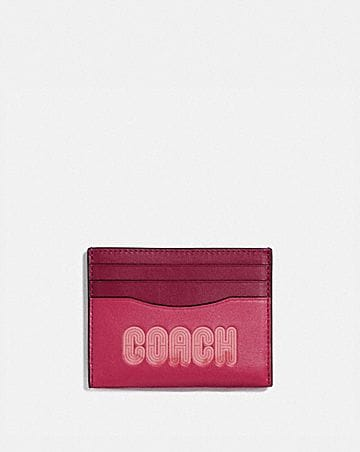 CARD CASE WITH COACH PRINT