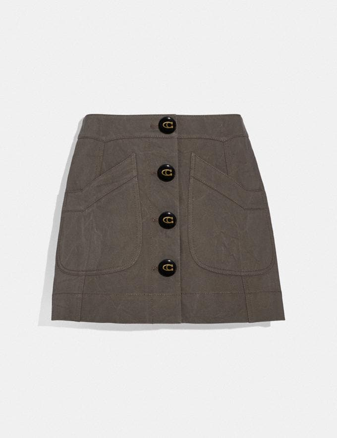 Coach Short Cargo Skirt Anthracite Women Ready-to-Wear Bottoms