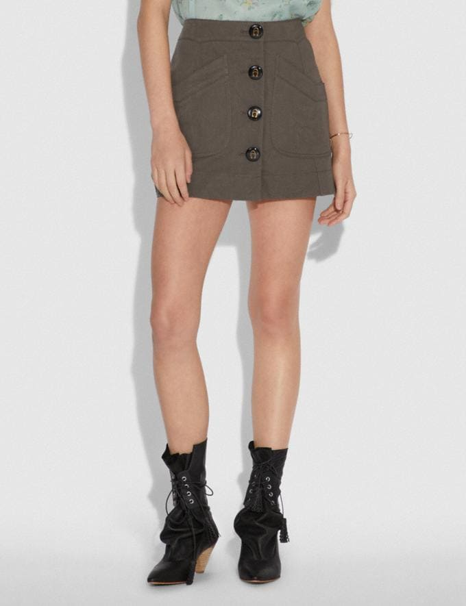 Coach Short Cargo Skirt Anthracite Women Ready-to-Wear Bottoms Alternate View 1