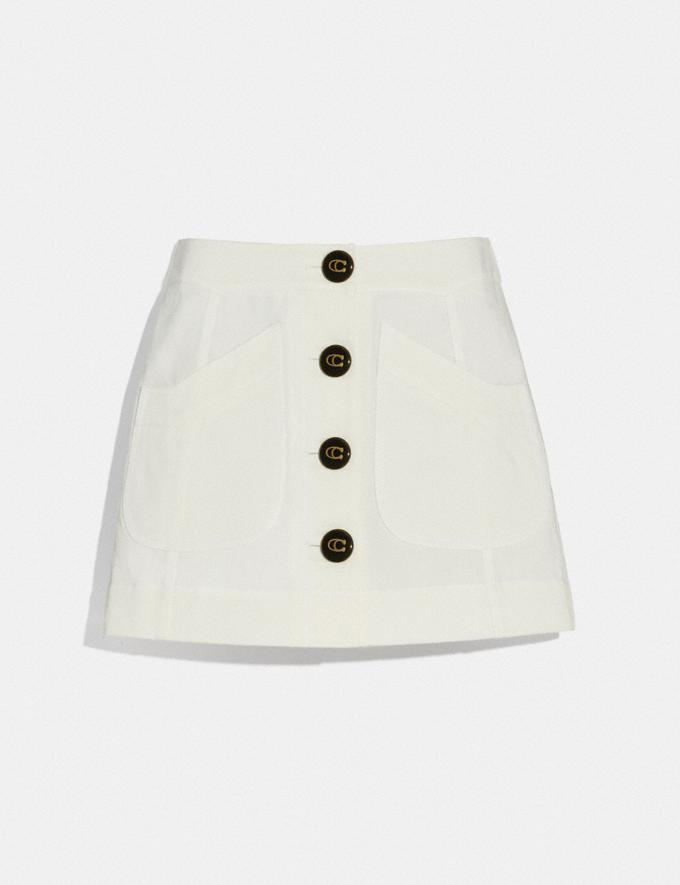 Coach Short Cargo Skirt White Women Ready-to-Wear Skirts