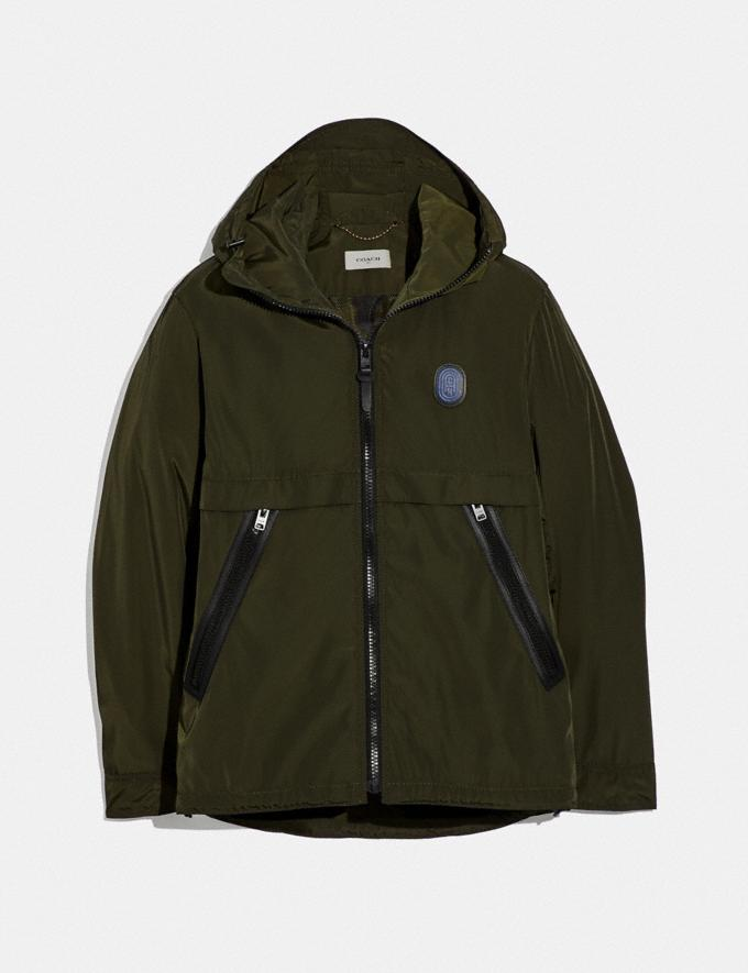 Coach Full Zip Windbreaker Spruce SALE Men's Sale Ready-to-Wear