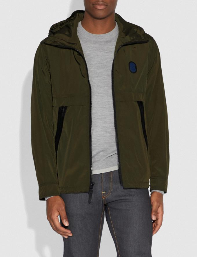 Coach Full Zip Windbreaker Spruce SALE Men's Sale Ready-to-Wear Alternate View 1