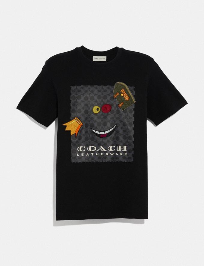 Coach Disney X Coach Alice Print T-Shirt True Black With Alice Men Ready-to-Wear Apparel