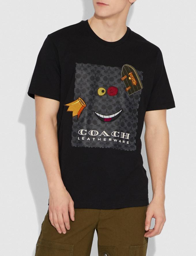 Coach Disney X Coach Alice Print T-Shirt True Black With Alice Men Ready-to-Wear Apparel Alternate View 1