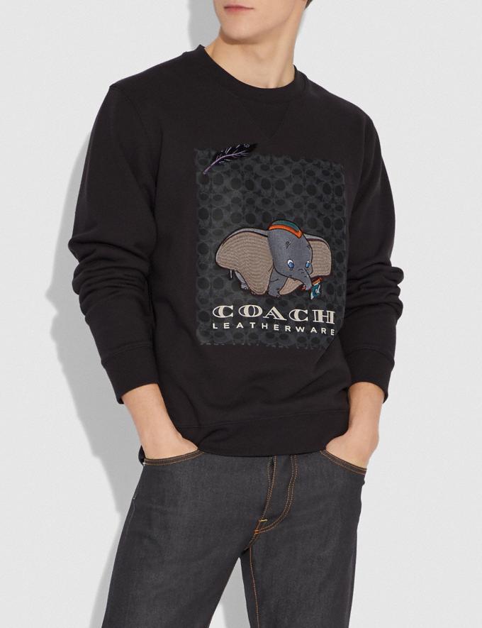 Coach Disney X Coach Dumbo Print Sweatshirt Black With Dumbo Men Ready-to-Wear Tops & Bottoms Alternate View 1