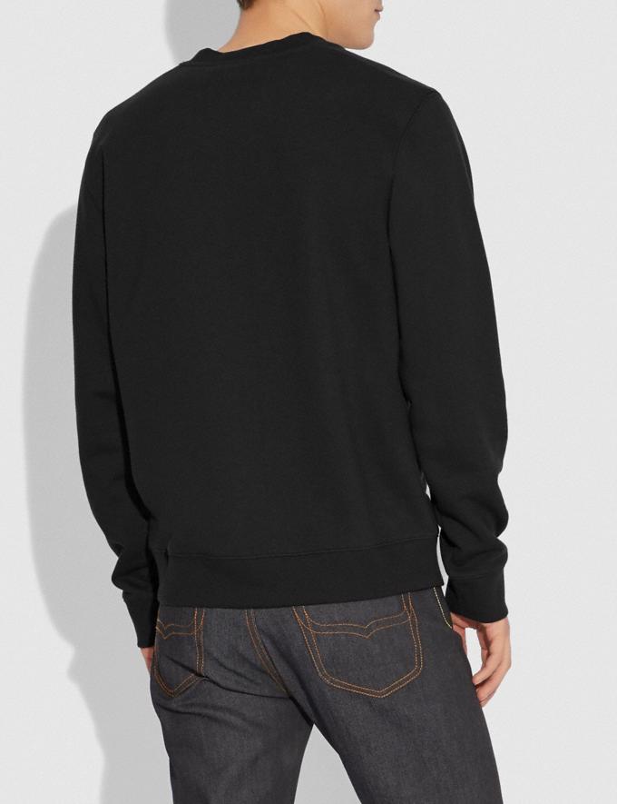 Coach Disney X Coach Dumbo Print Sweatshirt Black With Dumbo Men Ready-to-Wear Tops & Bottoms Alternate View 2