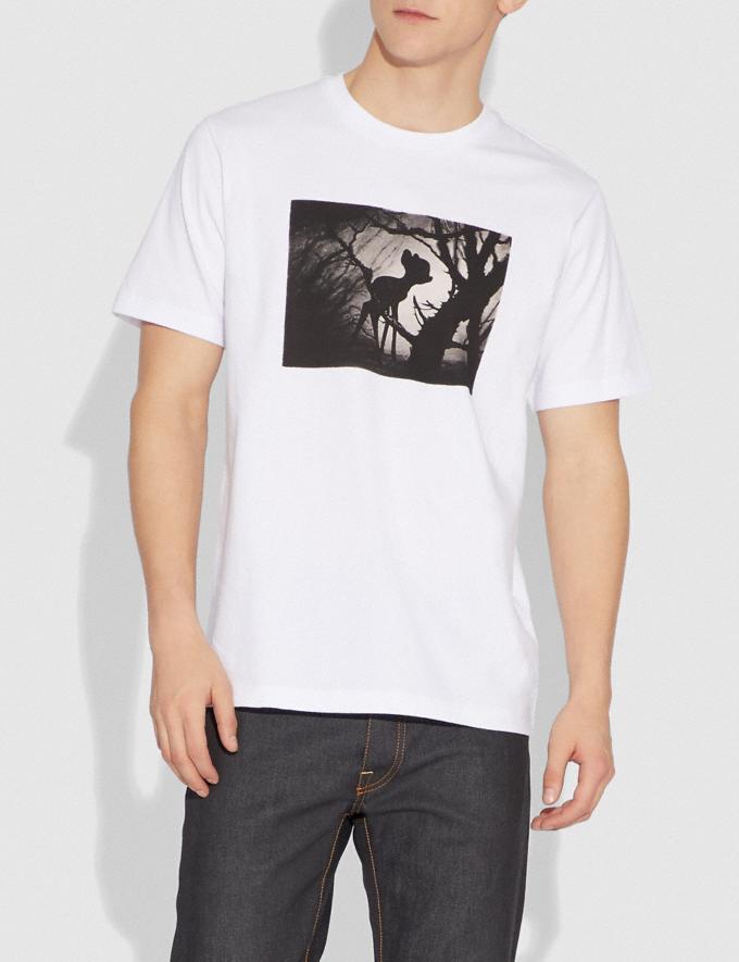 Coach Disney X Coach Disney Print T-Shirt Optic White With Bambi New Featured Disney X Coach Alternate View 1