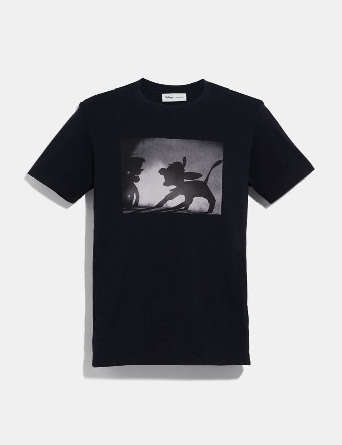 Coach Disney X Coach Disney Print T-Shirt Black With Pinnocchio New Featured Disney x Coach