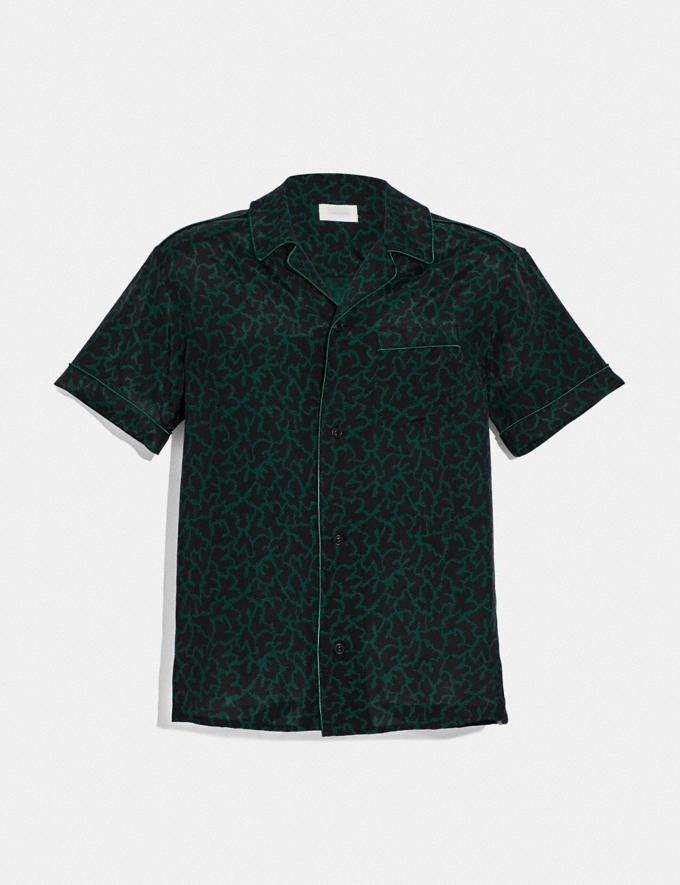 Coach Printed Pajama Shirt Green Multi Men Ready-to-Wear