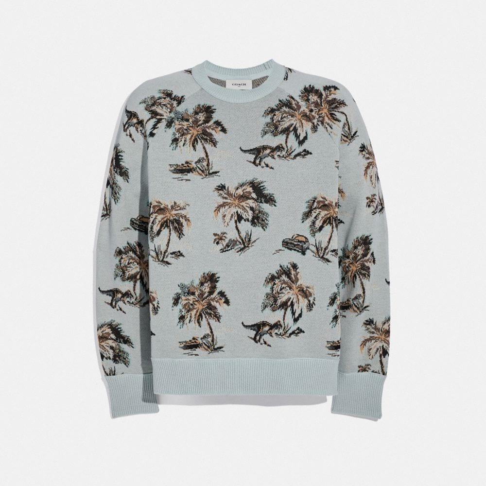 Coach Palm Tree Print Jacquard Sweater