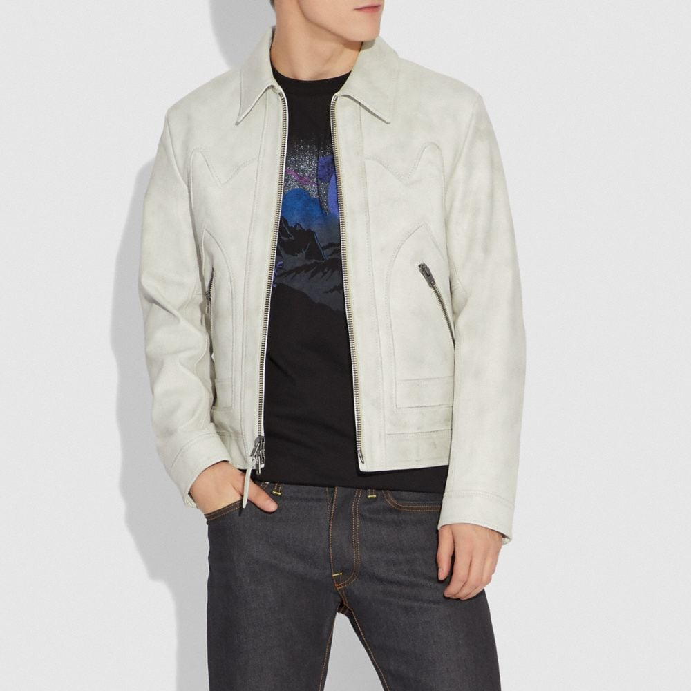 Coach Western Leather Jacket Alternate View 1