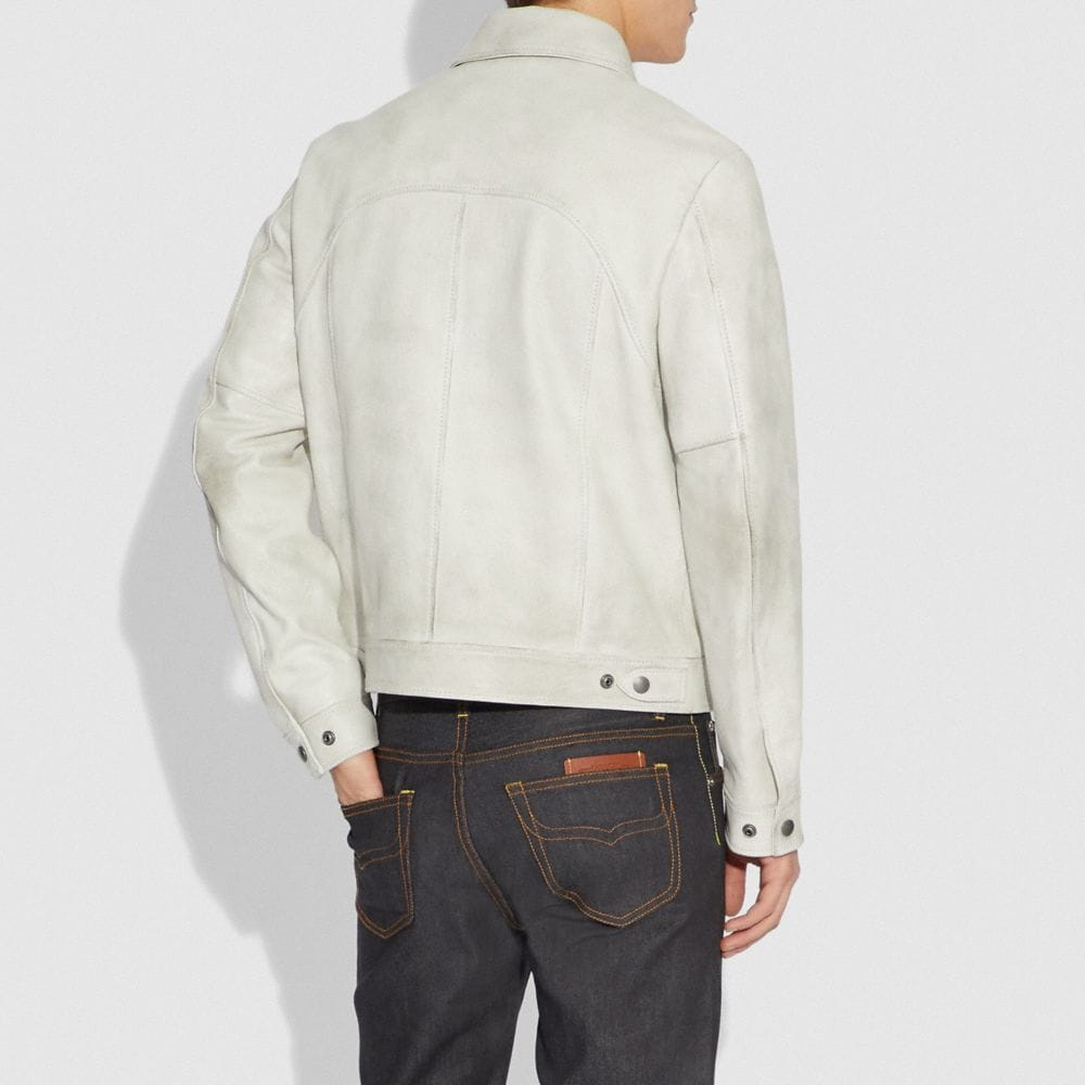 Coach Western Leather Jacket Alternate View 2