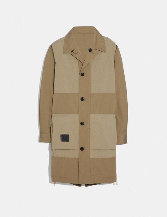 Coach Reversible Coat Dark Khaki