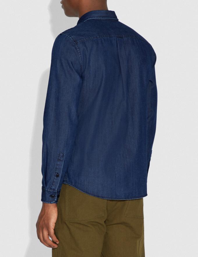 Coach Rexy Patch Denim Shirt Indigo Men Ready-to-Wear Alternate View 2