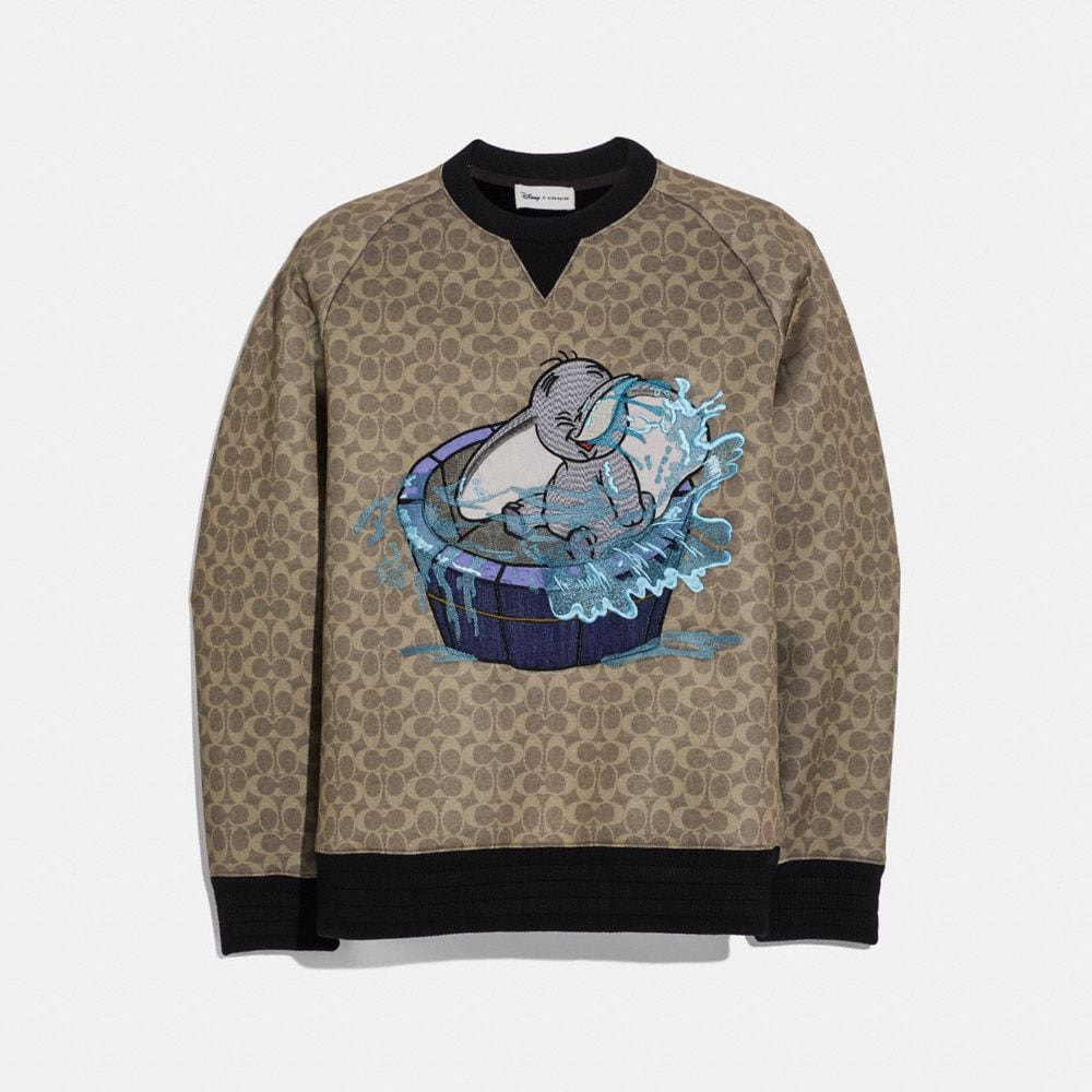 DISNEY X COACH SIGNATURE SWEATSHIRT WITH DUMBO
