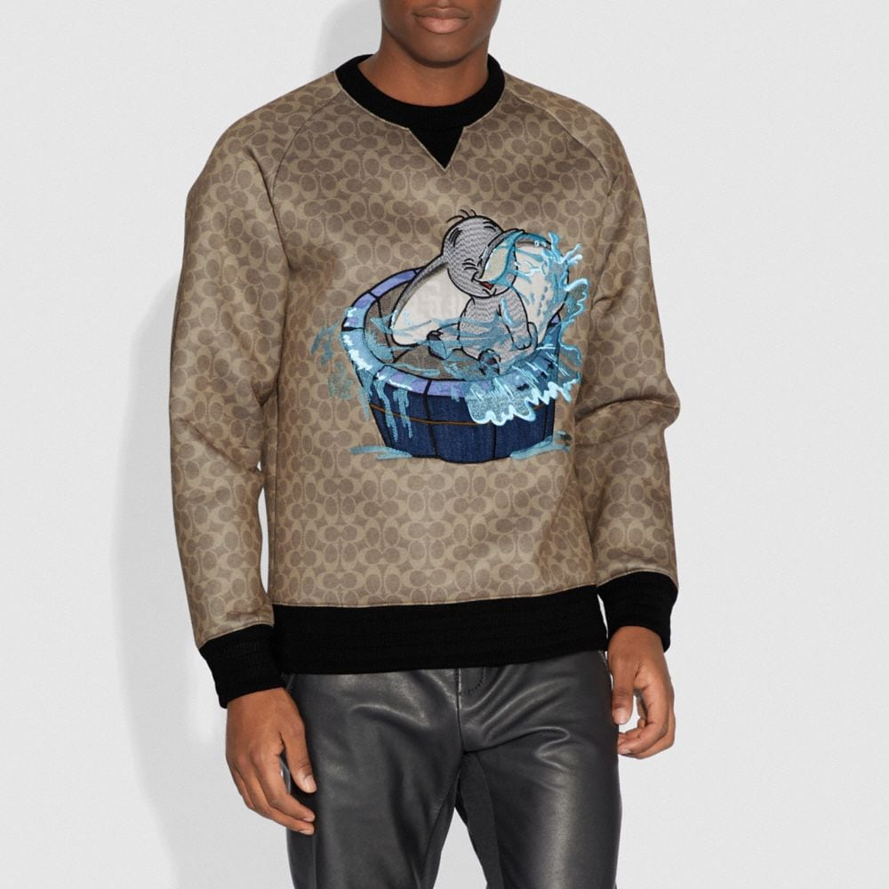 Coach Disney X Coach Signature Sweatshirt With Dumbo Alternate View 1