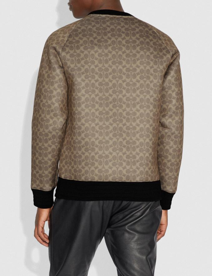 Coach Disney X Coach Signature Sweatshirt With Dumbo Khaki Signature Men Ready-to-Wear Tops & Bottoms Alternate View 2