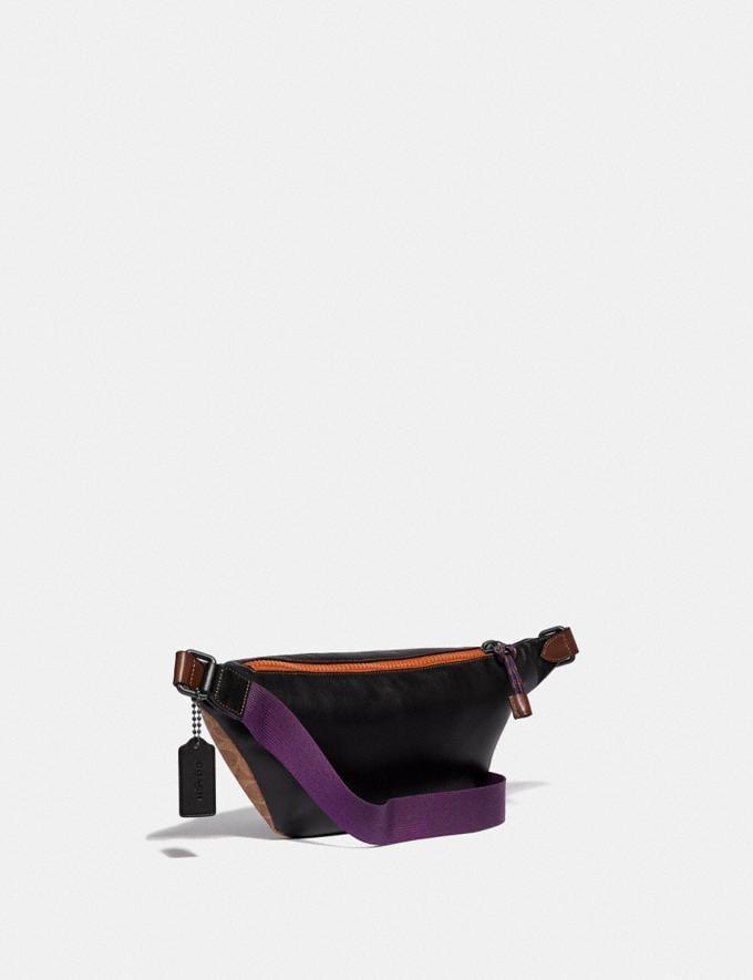 Coach Rivington Belt Bag in Signature Canvas With Coach Patch Khaki/Black Copper Men Bags Messenger Bags Alternate View 1