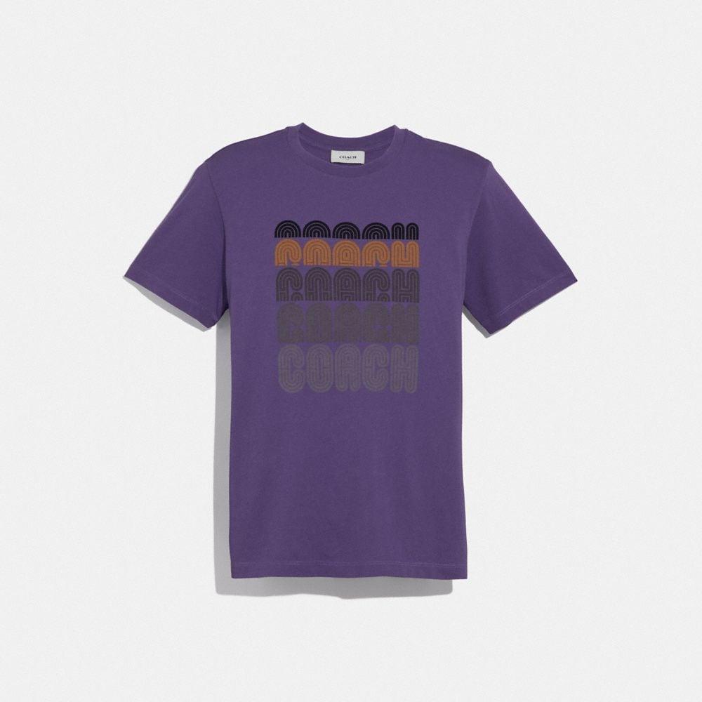 coach print t-shirt
