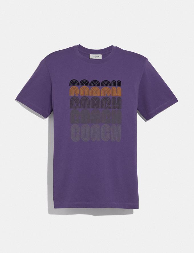 Coach Coach Print T-Shirt Aubergine Men Ready-to-Wear Tops & Bottoms