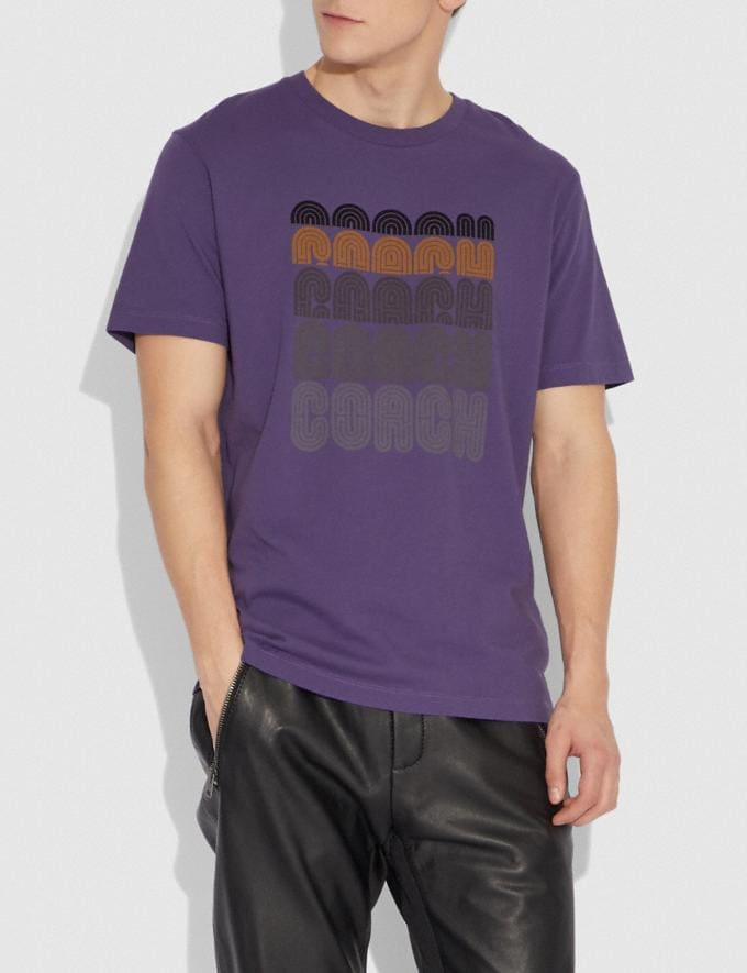Coach Coach Print T-Shirt Aubergine  Alternate View 1