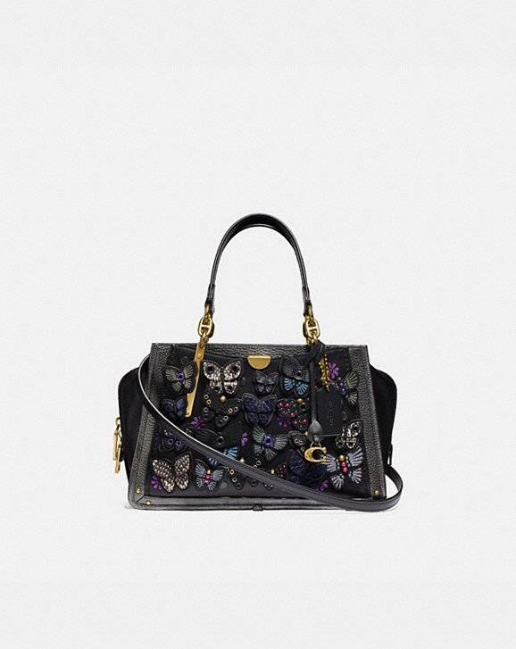 Coach DREAMER WITH BUTTERFLY APPLIQUE AND SNAKESKIN DETAIL
