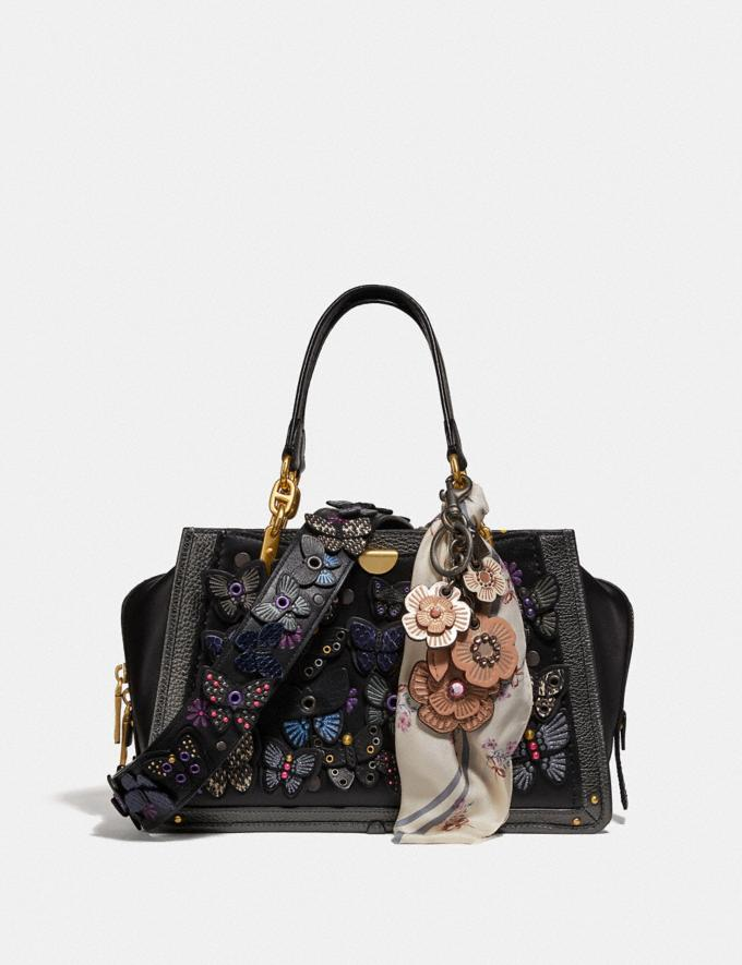 Coach Dreamer With Butterfly Applique and Snakeskin Detail Black Multi/Brass Personalise Personalise It Monogram For Her Alternate View 4