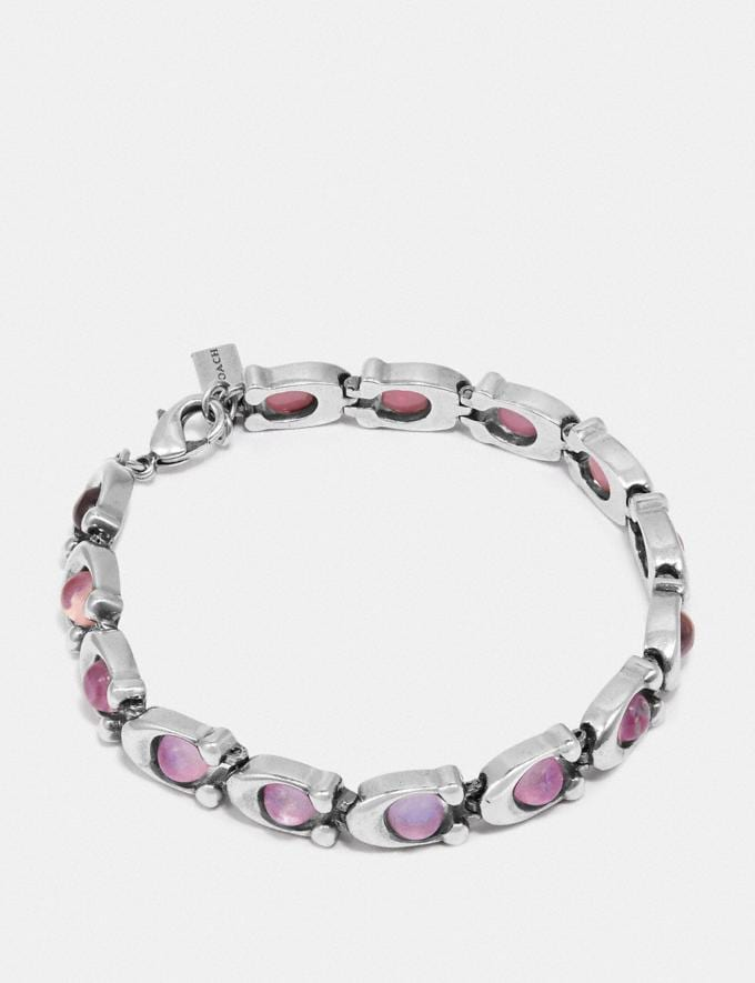 Coach Signature Stone Bracelet Multi/Silver Women Accessories Jewelry