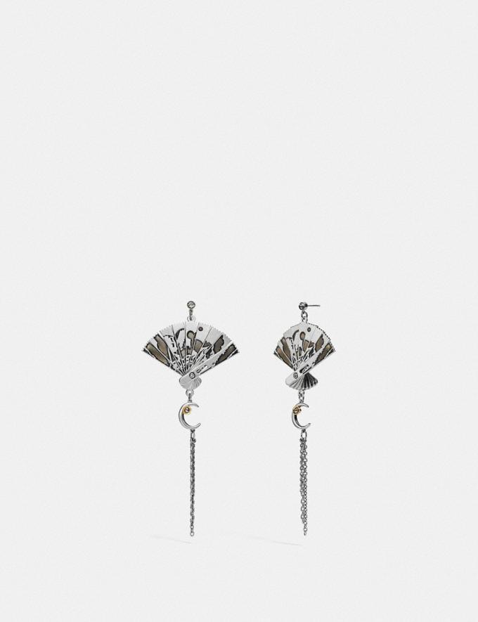 Coach Fan Earrings Silver Gifts For Her
