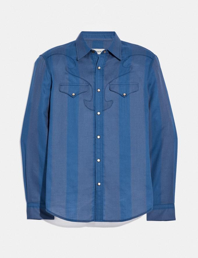Coach Western Shirt Cornflower
