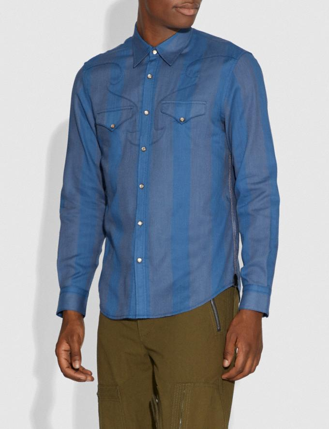 Coach Western Shirt Cornflower  Alternate View 1