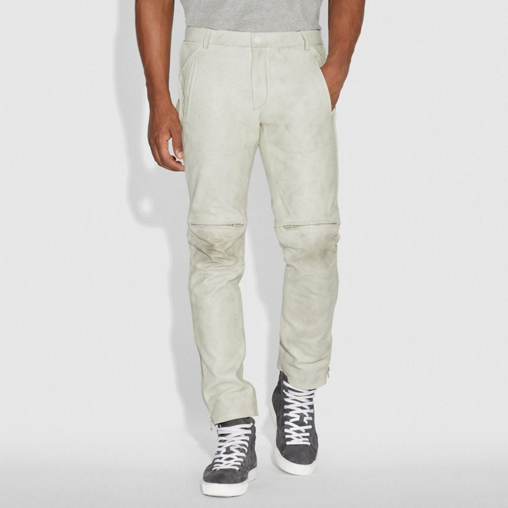 Coach Leather Moto Pants Alternate View 1