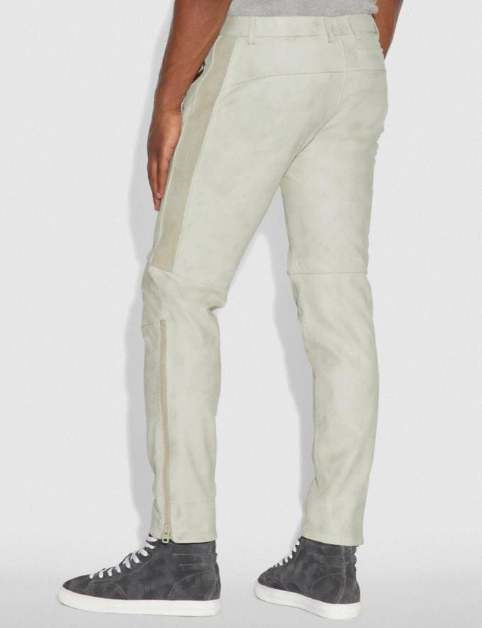 Coach Leather Moto Pants Dirty White Men Ready-to-Wear Tops & Bottoms Alternate View 2
