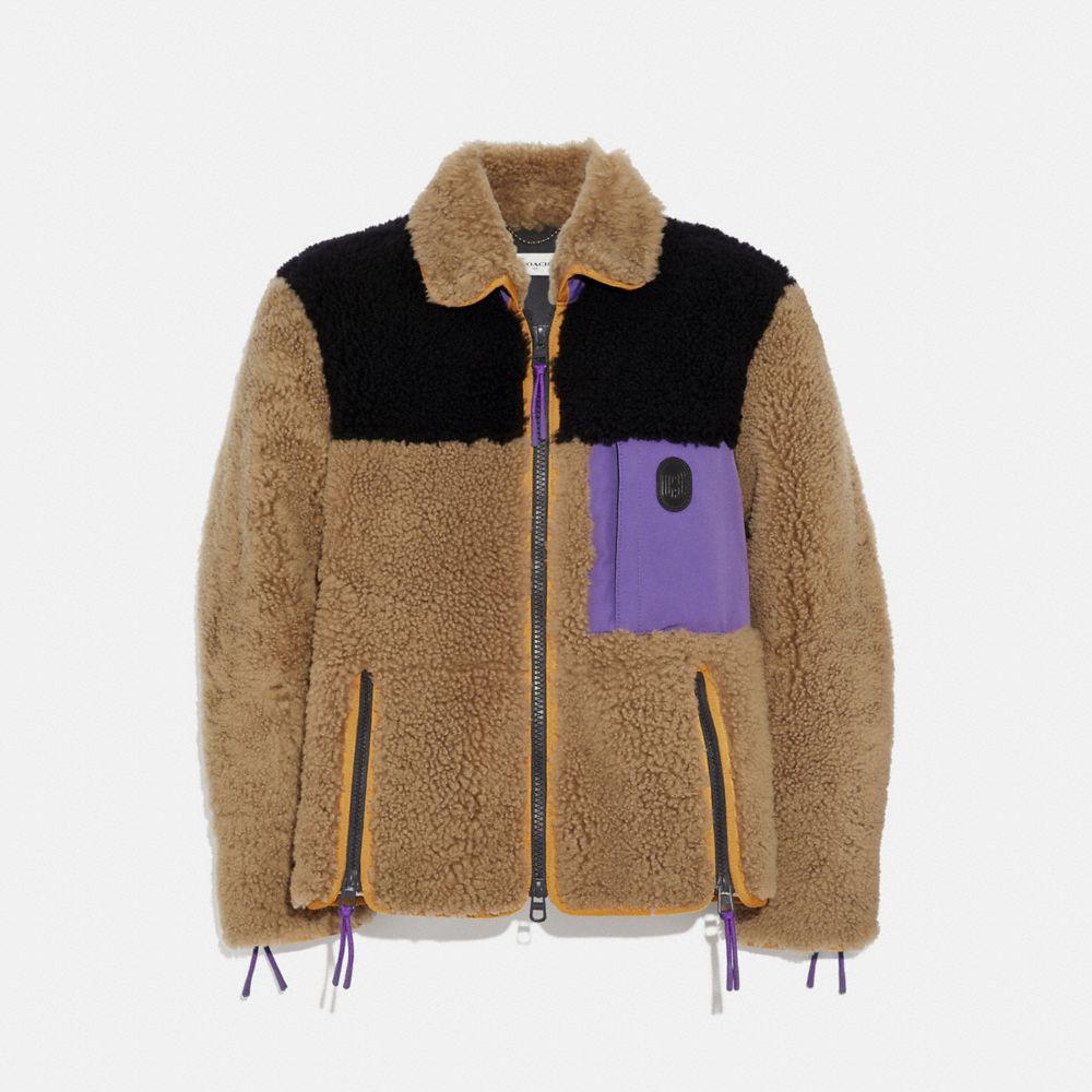 Coach Colorblock Shearling Jacket