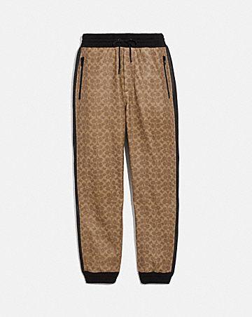 signature varsity track pants