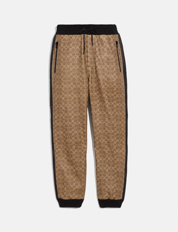 Coach Signature Varsity Track Pants Khaki Signature Men Ready-to-Wear Tops & Bottoms