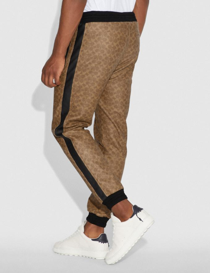 Coach Signature Varsity Track Pants Khaki Signature Men Ready-to-Wear Tops & Bottoms Alternate View 2