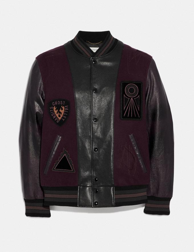 Coach Varsity Jacket Purple Haze/Berry Men Ready-to-Wear Coats & Jackets