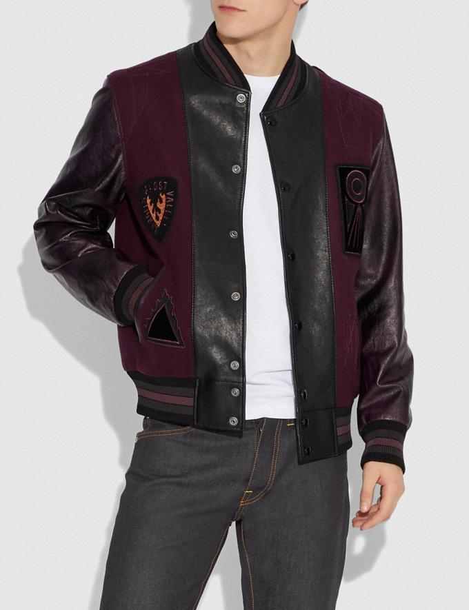 Coach Varsity Jacket Purple Haze/Berry Men Ready-to-Wear Coats & Jackets Alternate View 1