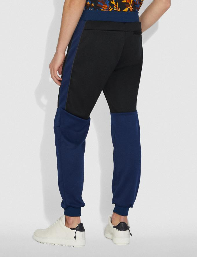 Coach Biker Pants With Coach Patch Black/Dark Cadet/Grey New Featured Michael B. Jordan Alternate View 2